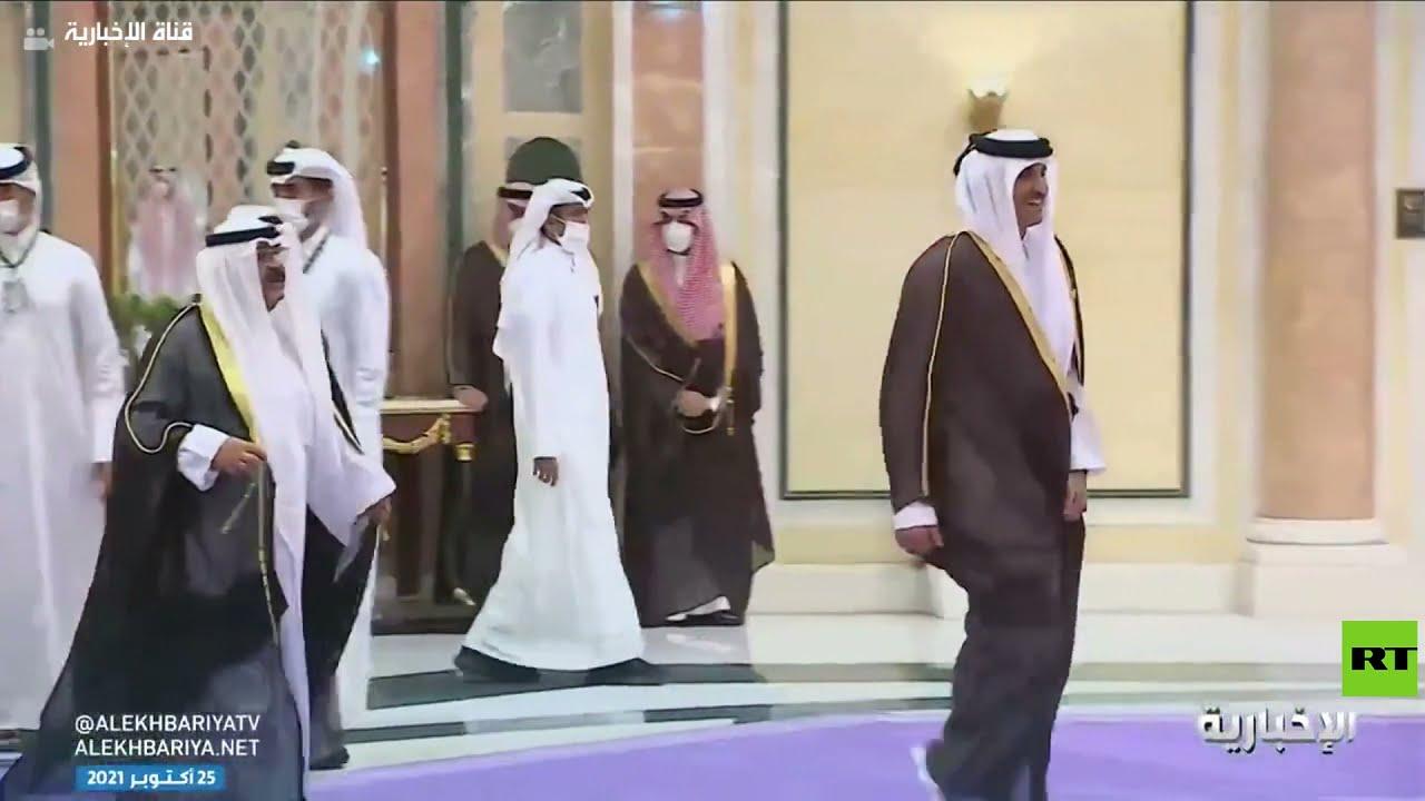 محمد بن سلمان يستقبل أمير قطر في الرياض