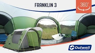 Outwell Franklin 3 Tent - 360 video (2019)