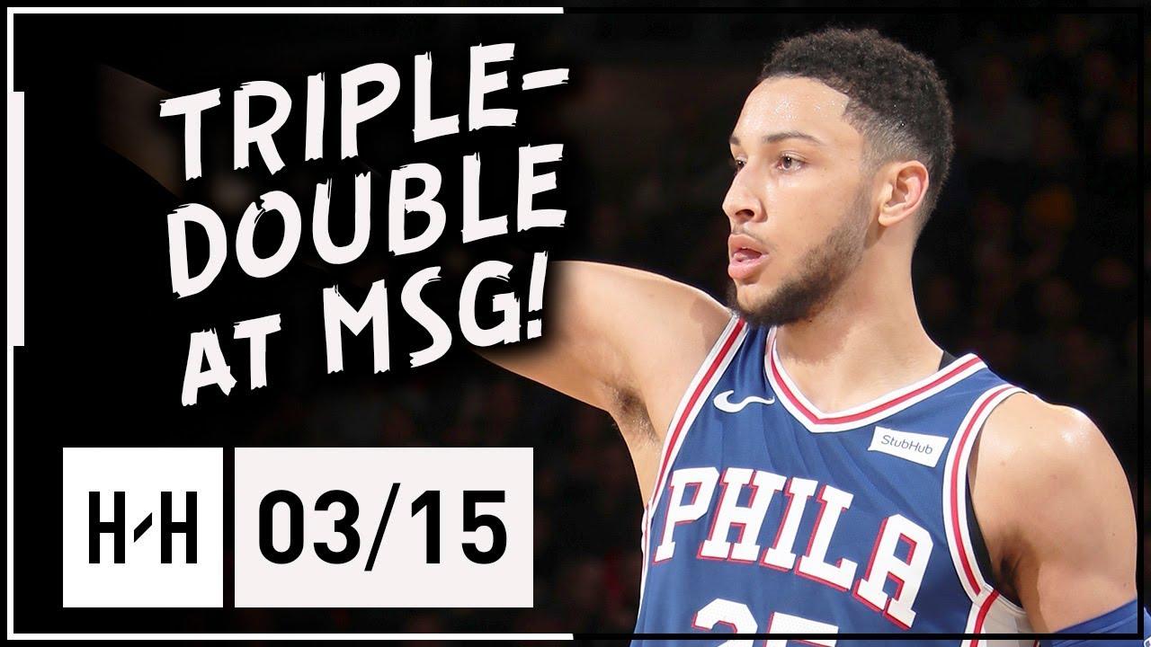 Ben Simmons Triple-Double Full Highlights vs Knicks (2018 ...