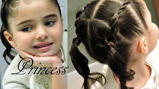 Peinado Infantil de Ligas FACIL    Toddler hairdo for little girsl 2-6 years EASY