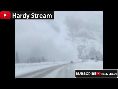Avalanche in Interstate 70 /  Copper Mountain / Colorado / USA