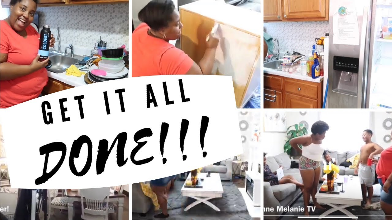GET IT ALL DONE! ULTIMATE CLEAN WITH ME // DIY TV CONSOLE // REFRIGERATOR CLEAN OUT // SMTV