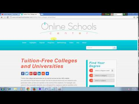 How to get online degree for free