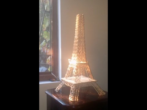 Eiffel Tower with toothpicks