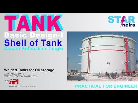 TANK API 650 | Perhitungan Tebal Plat Tangki # How To Calculate Plat Thickness Of Tank