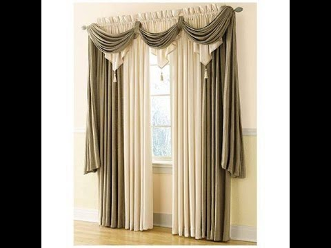 how to make swags and tails curtains youtube. Black Bedroom Furniture Sets. Home Design Ideas