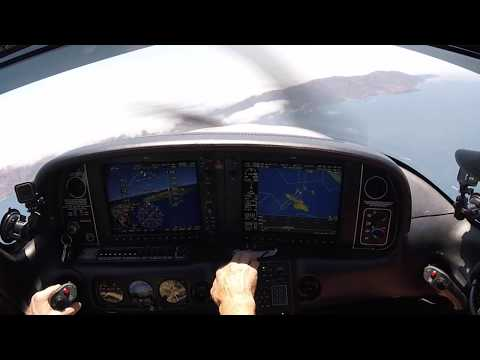 Cirrus SR22T -- IFR Santa Monica to Catalina over LAX!