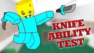 ROBLOX KNIFE ABILITY TEST | DESTRUCTION!