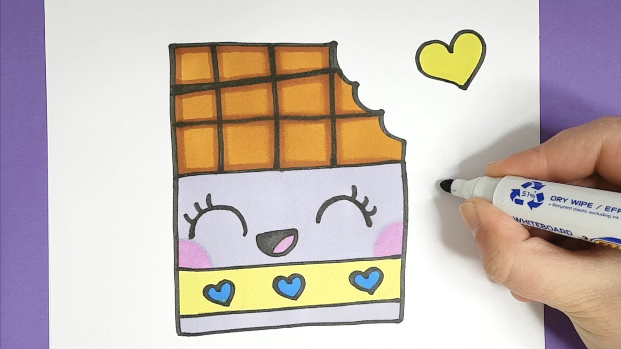 kawaii schokoladentafel malen  einfach und sÜß  youtube