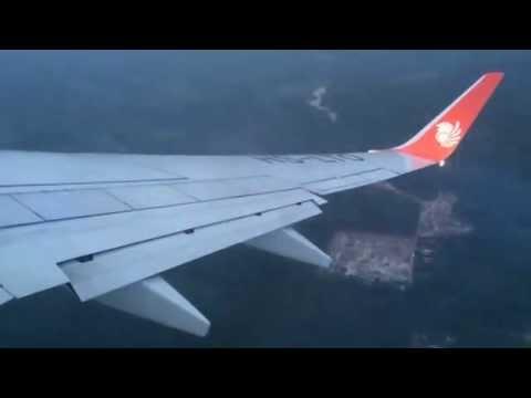 ดูเครื่องบินไลอ้อนแอร์บินขึ้นตอนฝนตกหนัก (Take Off) ที่สนามบินกระบี่ -Thai lionair