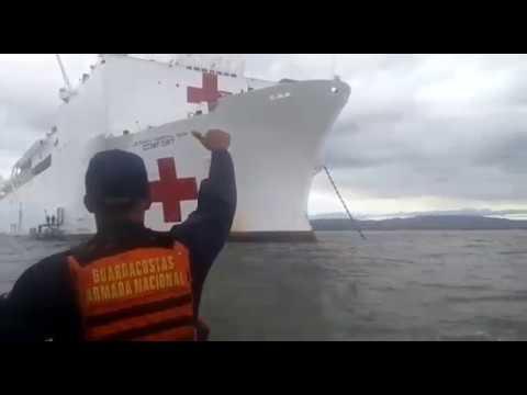 Llegó a Colombia el buque hospital USNS 'Comfort' de la Armada de los Estados Unidos
