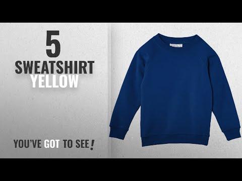Top 10 Sweatshirt Yellow [2018]: Trutex Limited Unisex Crew Neck Plain Sweatshirt