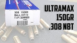 Ultramax 150gr .308 Nosler Ballistic Tip Ammunition (Best Value .308!)