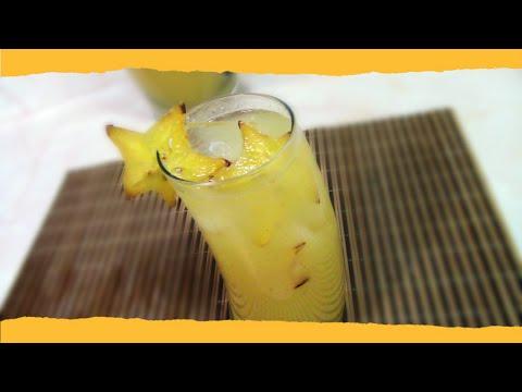 Agua de Carambola - Cocinando en Familia.