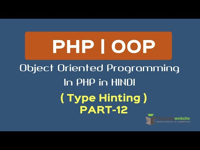 OOPS Concept in PHP in HINDI |  Type Hinting | Type Hinting in Polymorphism | Part-12
