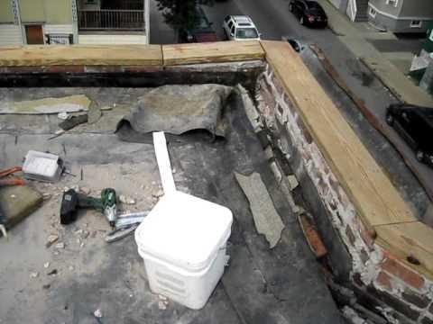 Parapet Wall Brick Repair Ib Flat Roof Installation In