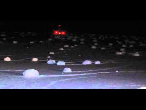 Snow Rollers - Snowballs Forming By Themselves In Northern Michigan