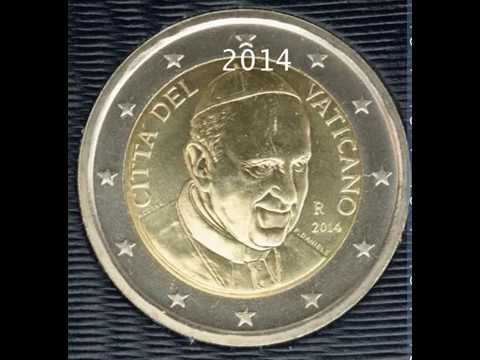 Vatican City 2€ coins 2003 - 2015