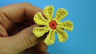 Маленькая ромашка Вязаные цветы Chamomile 90