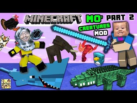 aquarium-attack!!-mo'-creatures-mod-showcase-#2:-land-creatures-crazyness-(fgteev-minecraft)