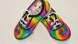 How to Sharpie Spiral Tie Dye Shoes