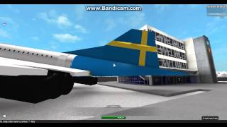 roblox swedish airlines concorde on display at swedish airlines hq