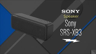Sony Portable Wireless Bluetooth Speaker SRS-XB3 - Overview