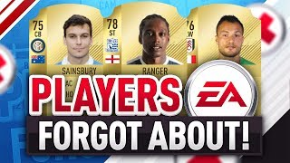 PLAYERS EA FORGOT TO ADD INTO FIFA 18!!