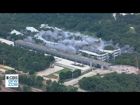 American Airlines Implodes Old HQ To Make Way For New Campus - Raw Video