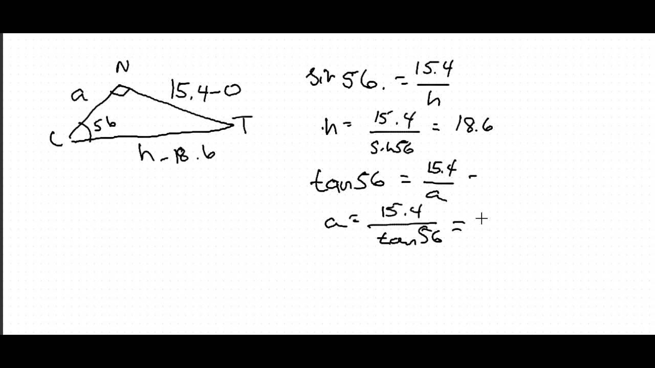 trig triangle ex2 - YouTube