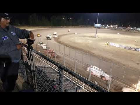 IMCA modified crashes main event southern Oregon speedway