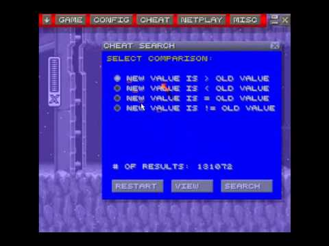 how to use zsnes's cheat features and create cheats