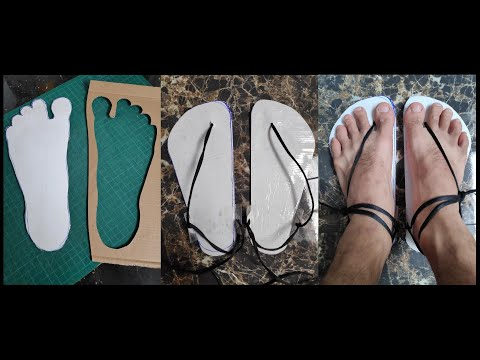 How to make (Shoes) + barefoot + minimalist + sandals