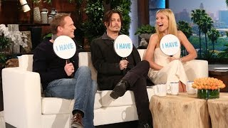 "Ellen, Johnny Depp, Gwyneth Paltrow and Paul Bettany all played an incredibly revealing round of ""Never Have I Ever."" You won't believe what they revealed!"