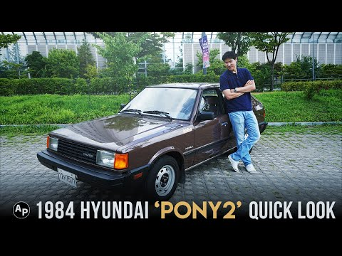 Hyundai Pony - Quick Look At 1984 Hyundai Pony 2!  Vintage From Hyundai.