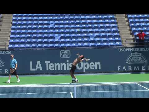 July 26 2009 Safin practice with Lu