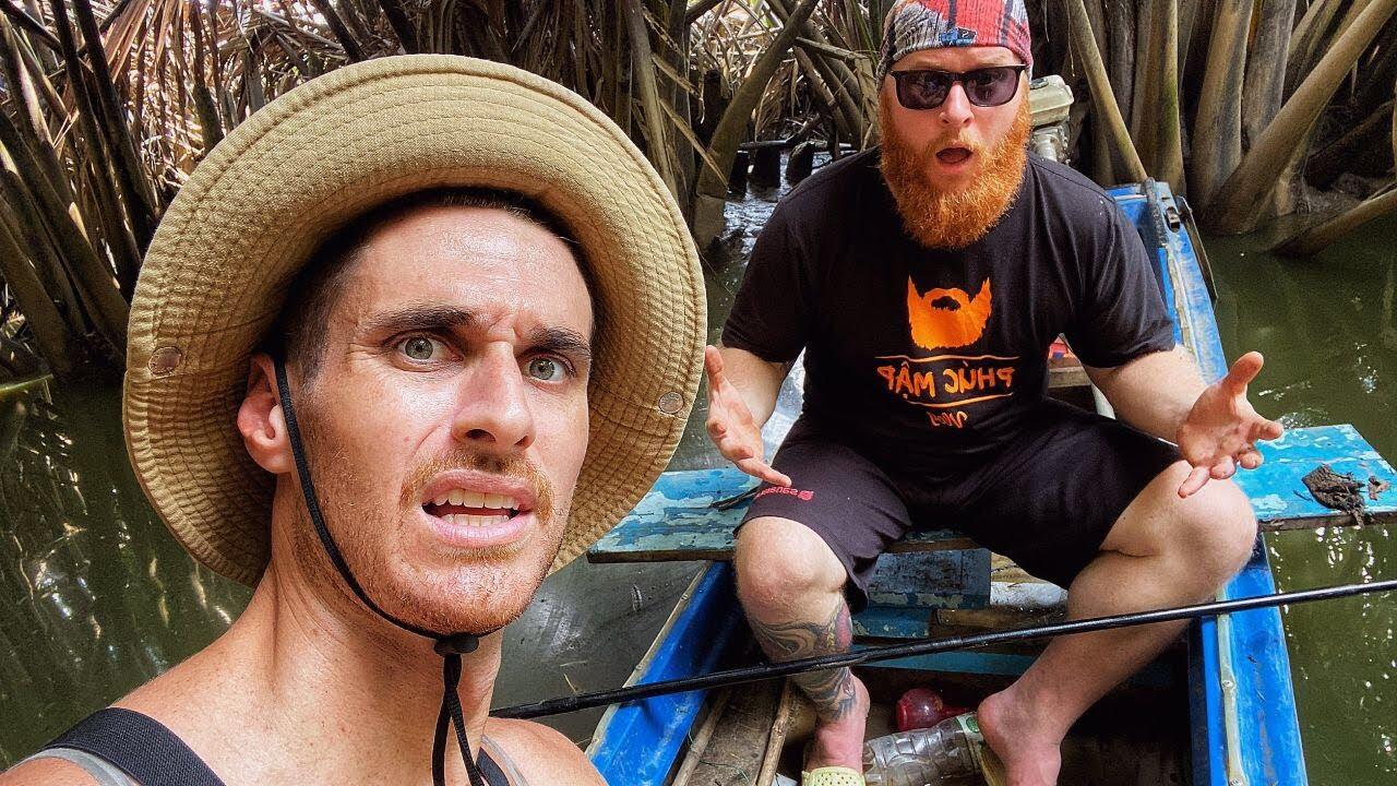 Crazy foreigners are terrible at fishing, VIETNAM (With Phúc Mập Vlog) Hai ông tây điên câu cá dở ẹc