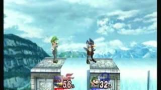 Falco as Sonic and Luigi as Snake