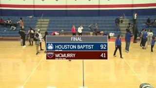 HBU Women's Basketball vs McMurry Hawks