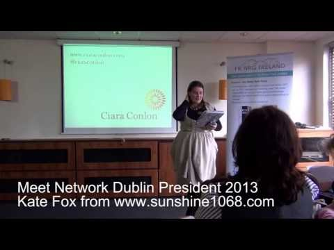 Press Play Video Coach  an Introduction to Network Dublin with President Kate Fox