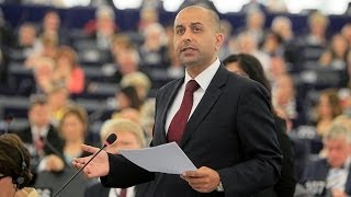 Sajjad Karim and his candidate speech for president of the European Parliament