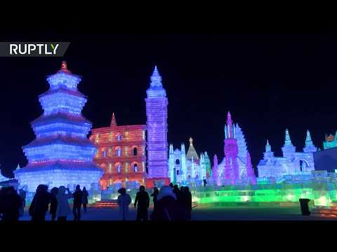 Ice and Snow festival dazzles tourists in China's Harbin