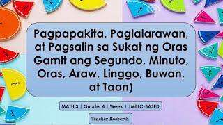 Math 3 | Quarter 4 | W1 | MELC-BASED | Pagpapakita, Paglalarawan, At Pagsalin Sa Sukat Ng Oras