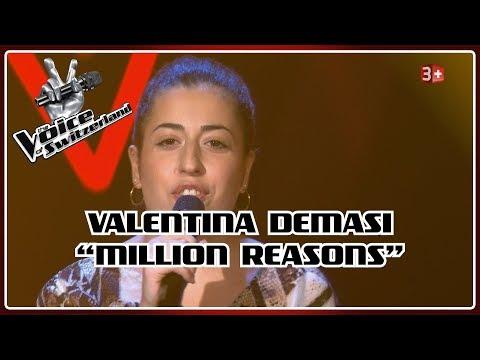 Valentina Demasi - Million Reasons   Blind Auditions   The Voice of Switzerland