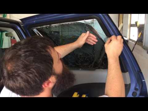 Bottom loading rear door: how to tint car windows