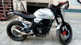 SCRAMBLER 250cc 2019 NEW COLOR FIRST IMPRESSION REVIEW WITH SOUND TEST & SITTING STYLE ON PK BIKES