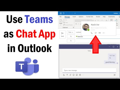 How To Set Microsoft Teams As Chat App In Outlook | How To Enable Chat Option In Microsoft Teams