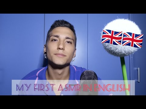 my FIRST ASMR video in ENGLISH