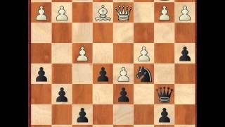 Шахматы - Как играть дебют - Английская атака-2 - 7.Nb3 - 9.Nd5! (практика) - 1 часть(1. e4 c5 2. Nf3 d6 3. d4 cd 4. Nd4 Nf6 5. Nc3 a6 6. Be3 e5 7.Nb3 Be6 8.f3 h5! 9.Nd5! Теоретическая часть ..., 2013-12-24T11:31:22.000Z)