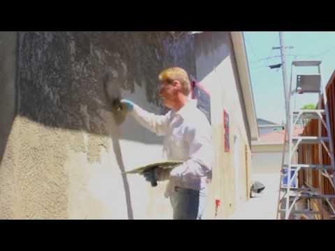 Teaching How To Apply A Skip Trowel Stucco Finish By Kirk Giordano